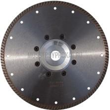 Алмазный диск Турбо Гранит Ø230×(фланец 22,2) Ниборит - фото
