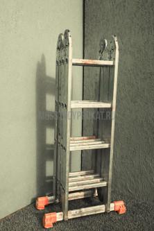Лестница универсальная  3-секционная 10-ти метровая - фото 6