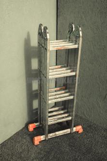 Лестница универсальная  3-секционная 10-ти метровая - фото 5