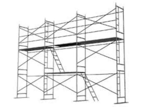 Леса строительные рамные ЛРСП-60 в аренду и напрокат. Фото(1)