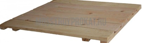 Настил деревянный для строительных лесов 1/1,5 - фото 1