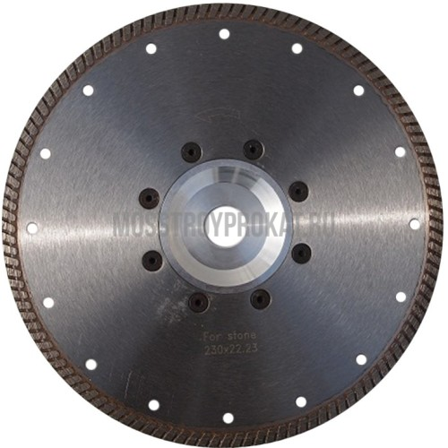 Алмазный диск Турбо Гранит Ø230×(фланец 22,2) Ниборит - фото 1