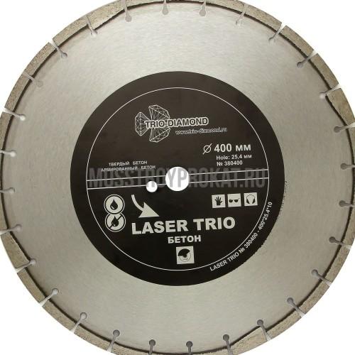 "Круг алмазный ""Trio-Diamond"" Segment Лазер Бетон 400х10х25,4 мм - фото 1"