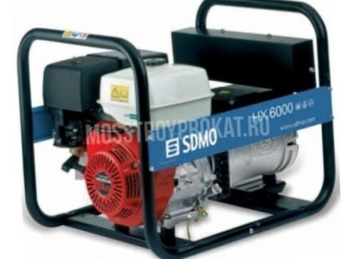 Бензиновый генератор Sdmo HX 6000 S (5.5 кВт) в аренду и напрокат - фото 1