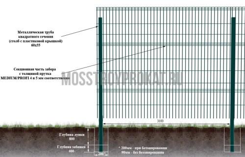 3D забор 3,1х2 в аренду и напрокат . Фото(1)